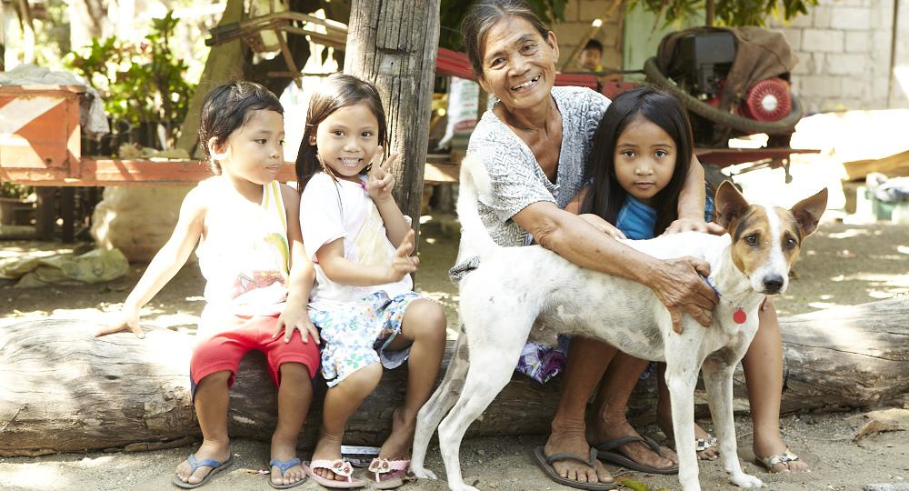 Children & dogs, Bohol Philippines