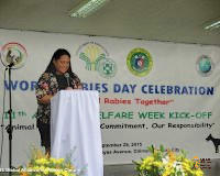 Dr Sarah Jayme presents during World Rabies Day celebration for GARC.