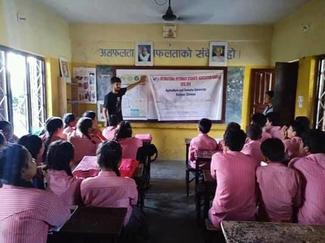 IVSA Rampur student group, GARC World Rabies Day awards nominee activities 2020, including education in schools.