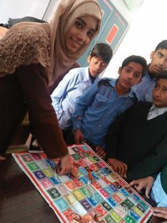 Miss Mamoona Arshad, GARC World Rabies Day awards nominee activities 2020, including using interactive materials and games for education.