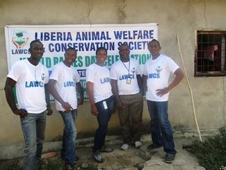 Liberia Animal Welfare & Conservation Society, a shortlisted nominee for the GARC World Rabies Day awards 2020