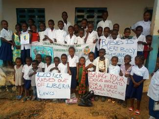 Liberia Animal Welfare & Conservation Society, GARC World Rabies Day awards nominee activities 2020, including education and community awareness