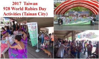 To celebrate the World Rabies Day, TVMA initiated free pet vaccination campaign, and children coloring contest for rabies prevention, location: No.332, Sec. 3, Zhonghua E. Rd., East Dist., Tainan City 70168, Taiwan (R.O.C.)