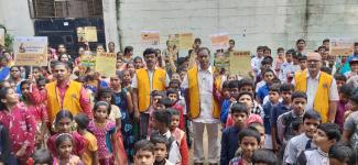 Rabies awareness rally at Bright Concept High School, Jeedimetla,   Hyderabad on 28th September