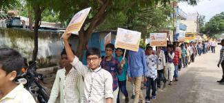 Rabies awareness rally in surrounding areas in Jeedimetla,Hyderabad on 28th September
