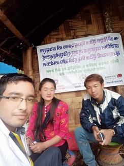 Kudos to the small yet efficient campaign team from Panchthar.