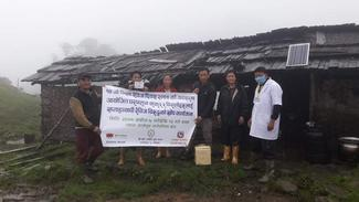 The vaccination program being conducted in remote village of Panchthar district