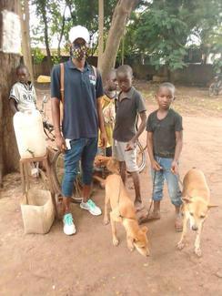 Children bringing their pets for vaccination