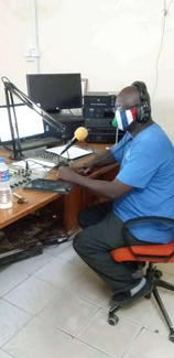 our General Manager Langbaba Ceesay during one of the radio programmes