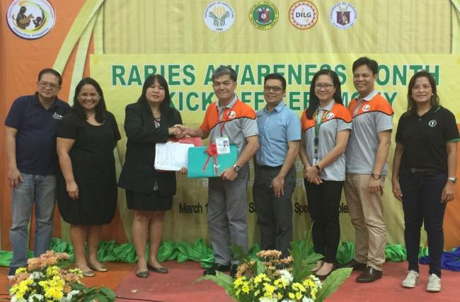 Ceremonial turnover of lesson plans by GARC and the Philippine Department of Education to the NRPCC