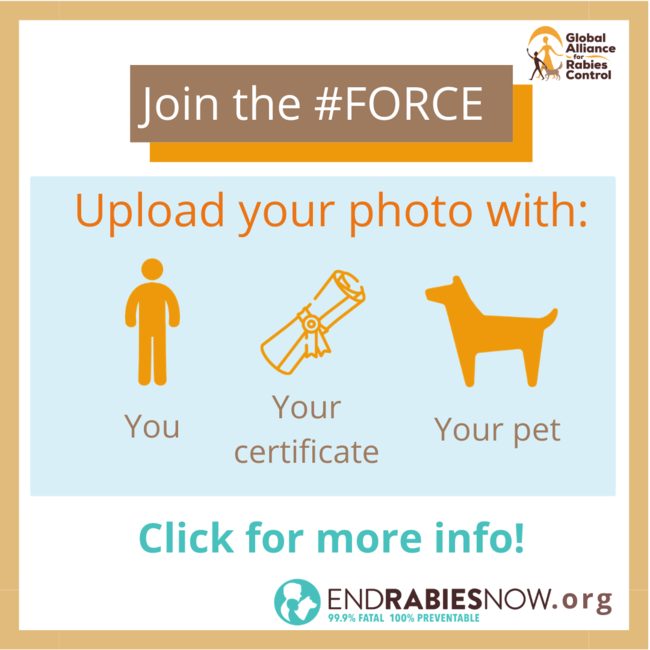 Join the Faces of Rabies Control and Elimination campaign by GARC and EndRabiesNow.