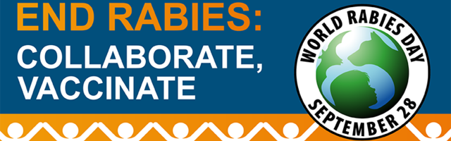 "This year's World Rabies Day theme is ""End Rabies: collaborate, vaccinate"""