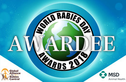 World Rabies Day awardee badge
