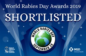 World Rabies Day shortlist badge